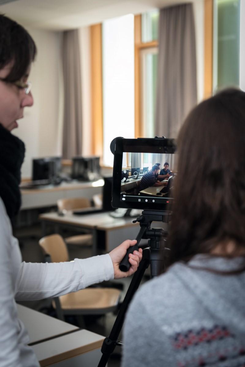 Dreharbeiten zum Web-Checker Film; Foto Martin Gleixner