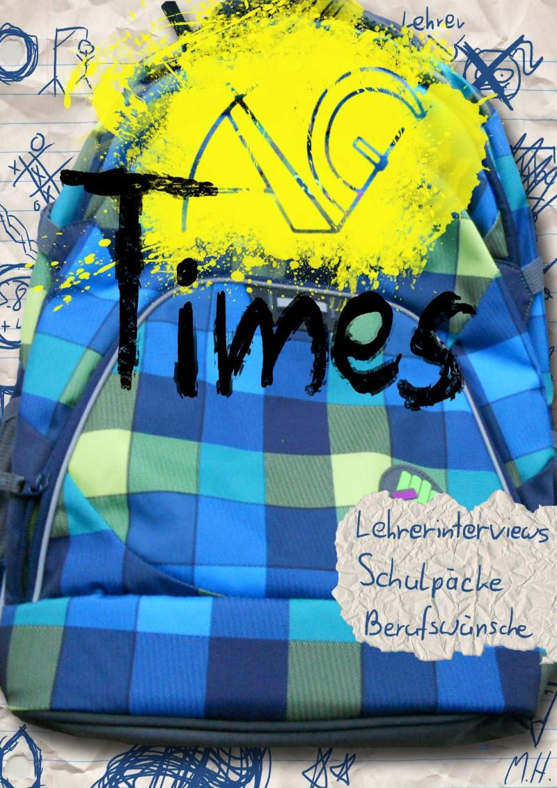 Cover unserer Schülerzeitung; Foto Michael Huber