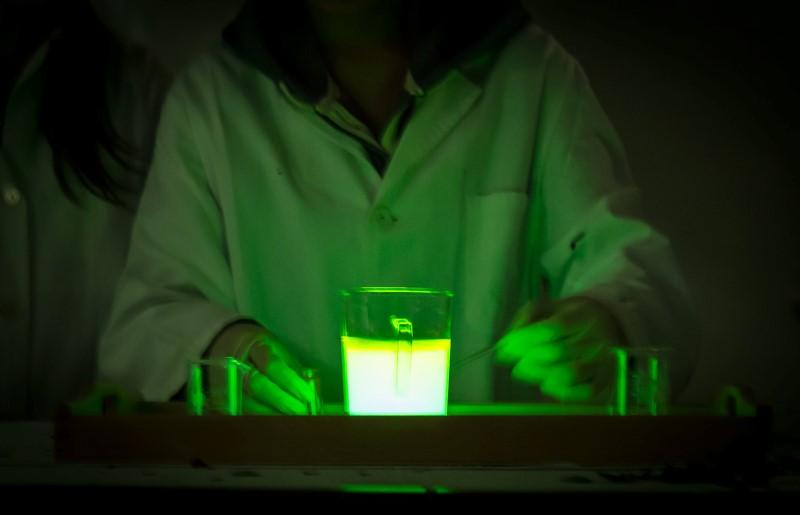 Im Chemielabor