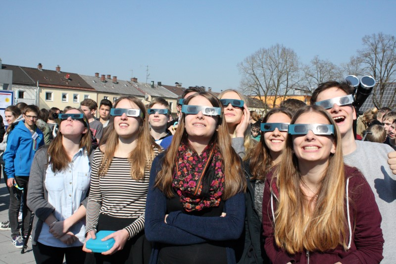 Sonnenfinsternis 2015; Foto Wolfgang Oberbauer