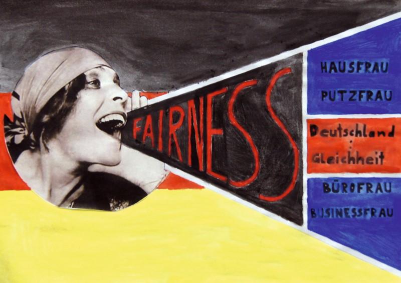Alex Fink, Q12: Fairness, Plakat; Mischtechnik