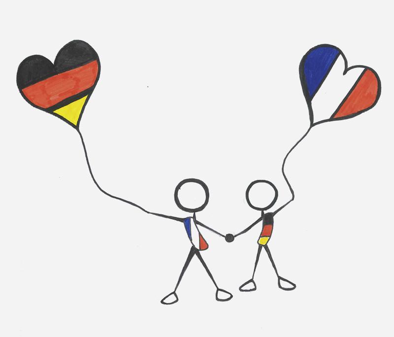 Karolin Kollmuß, 8a: Deutsch-Französische Freundschaft; Zeichnung