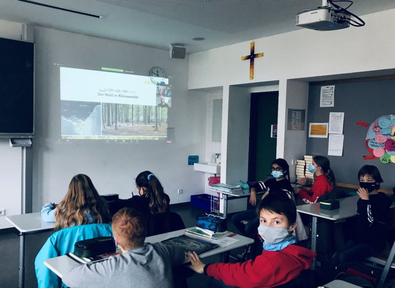 Digitaler Vortrag über Den Wald Im Klimawandel Im Geographieunterricht Der Klasse 5a